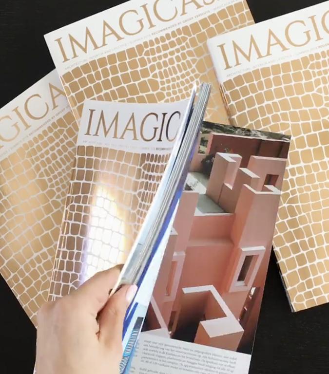 Een mooie pagina in het zomermagazine van Imagicasa